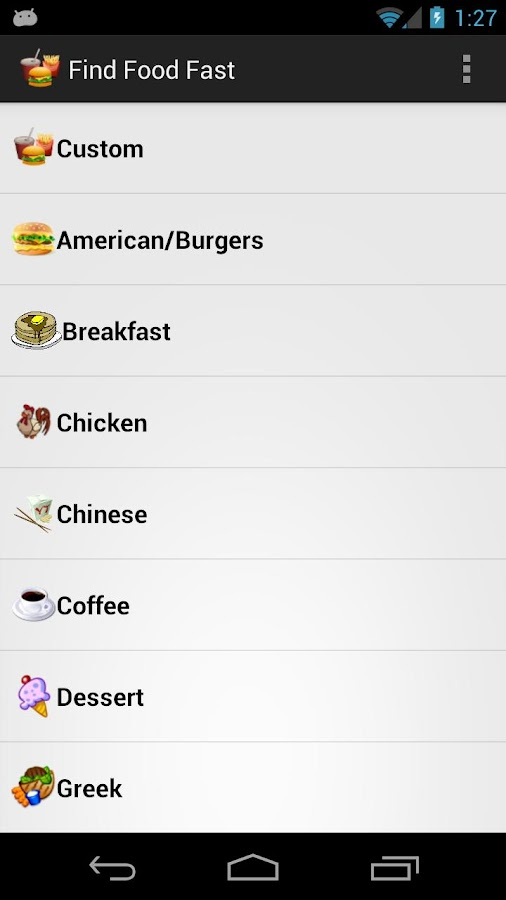 Find Food Fast - screenshot