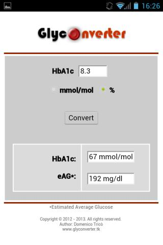 HbA1c Conversion Chart