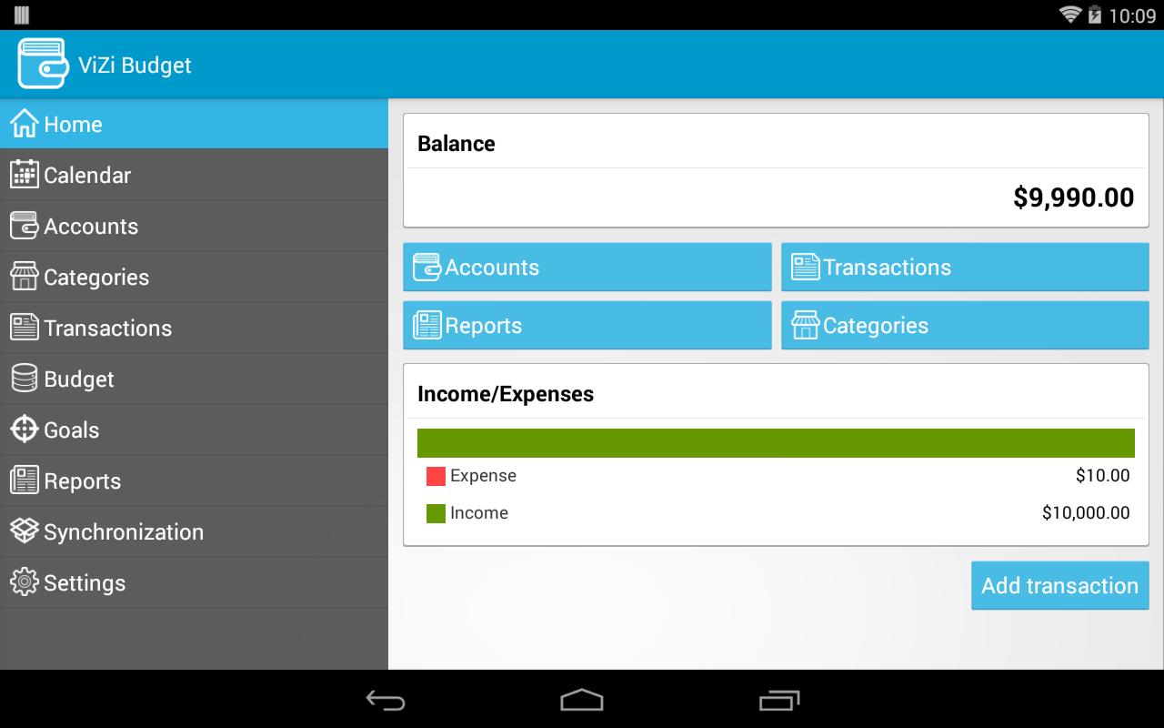 ViZi Budget - screenshot