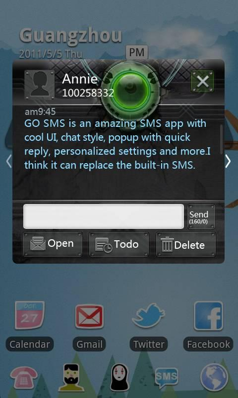 GO SMS Pro Ring ThemeEX - screenshot