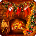 HD Christmas Santa Fire & Tree icon