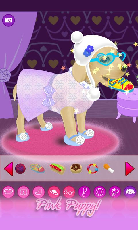 Dressup Pink Puppy - screenshot