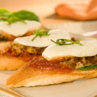 Chicken Parmesan Bruschetta.