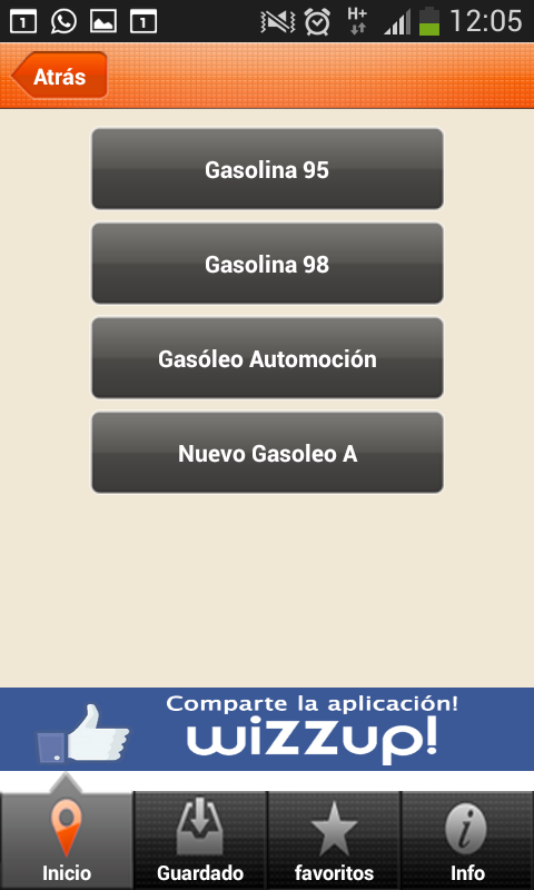 Wizzup! Cheap gasoline - Spain- screenshot