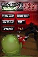 Screenshot of Shuriken Zombies 2(LITE)