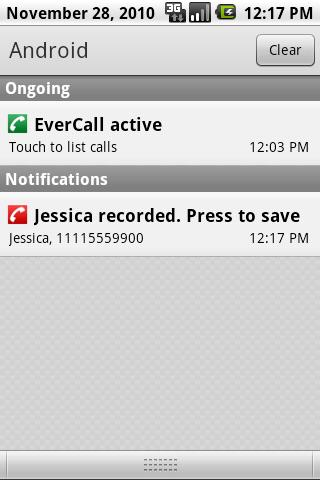 Evercall FREE- screenshot
