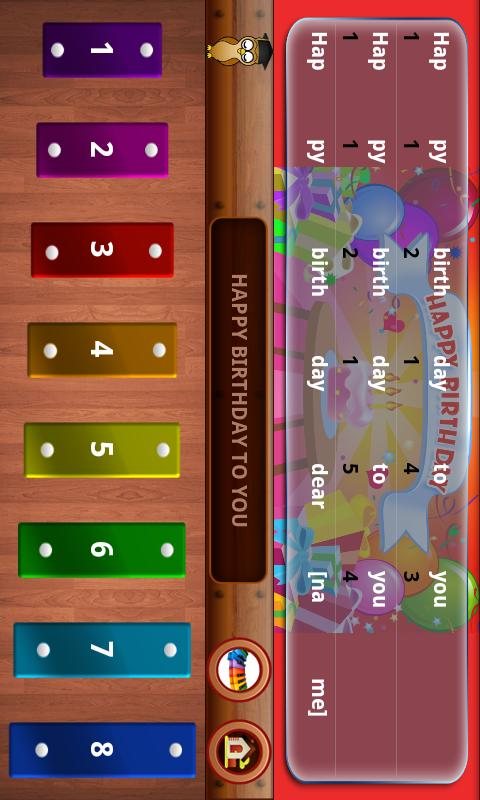 Nursery Rhymes Piano Tunes - screenshot