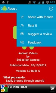 Android videos - screenshot thumbnail