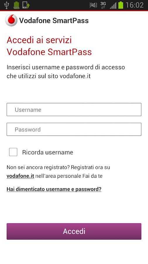 Vodafone SmartPass- screenshot