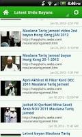 Screenshot of Maulana Tariq Jameel Bayans