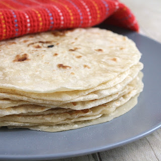 Homemade Flour Tortillas.