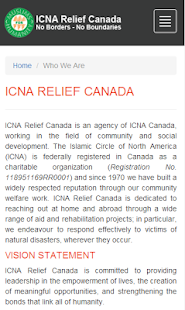 ICNA Relief Canada- screenshot thumbnail