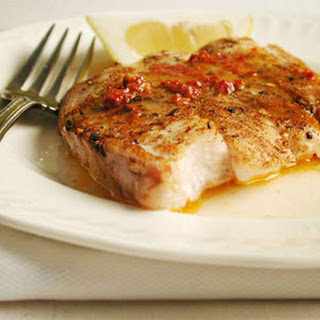 Baked Snapper with Chipotle Butter.