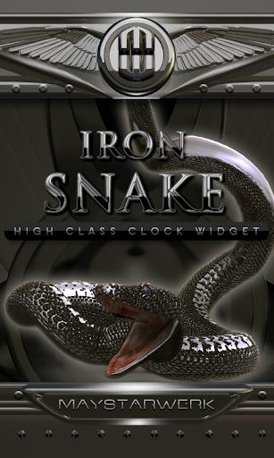 Iron Snake Clock widget