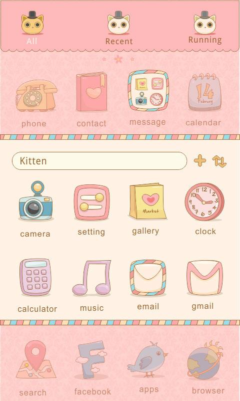 LovelyKitten GO Reward Theme - screenshot