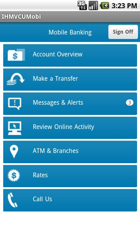 IHMVCU Mobile Banking - screenshot