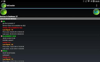 Screenshot of Bluetooth Scanner - btCrawler