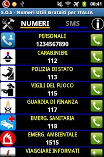 SOS Numeri Utili per Italia- screenshot thumbnail
