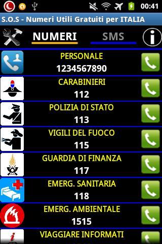 SOS Numeri Utili per Italia- screenshot