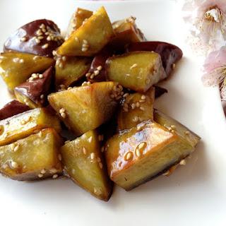 Maple-Glazed Sweet Potatoes (Japanese Daigaku Imo Style) w/ Vegan option.