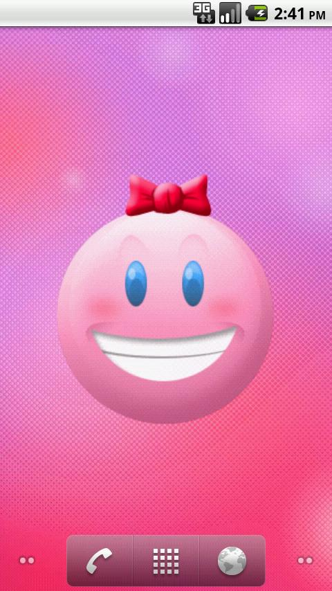 Smiley Face Moods LWP! - screenshot