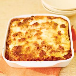 Healthier Meat Lasagna.