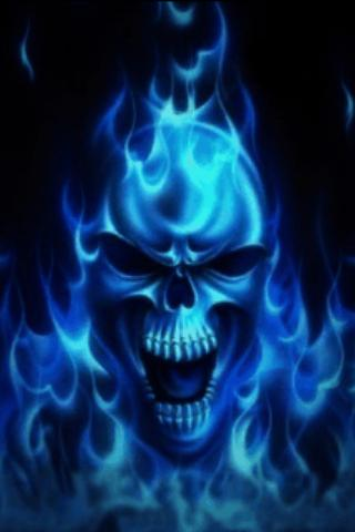 blue wallpaper skull - photo #15