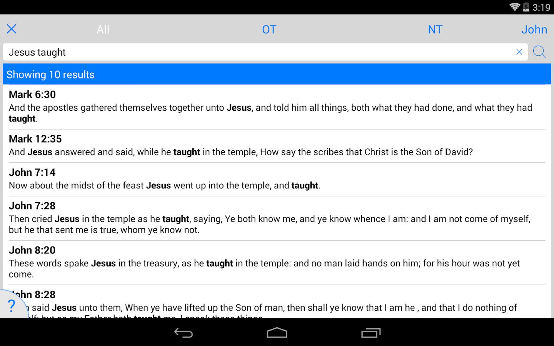 NKJV Bible- screenshot
