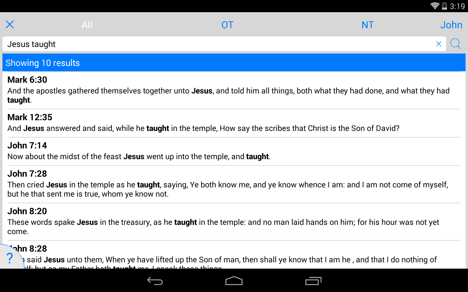 NKJV Bible screenshot #24