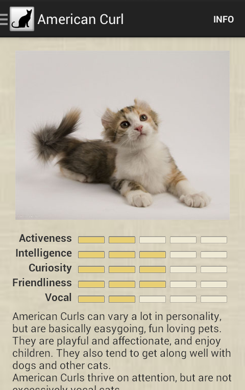 Cat Breeds- screenshot