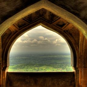 jharokha...looking through by Riju Banerjee - City,  Street & Park  Historic Districts