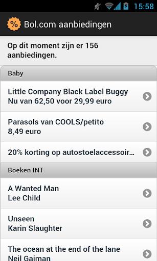 Aanbiedingen-app voor bol.com