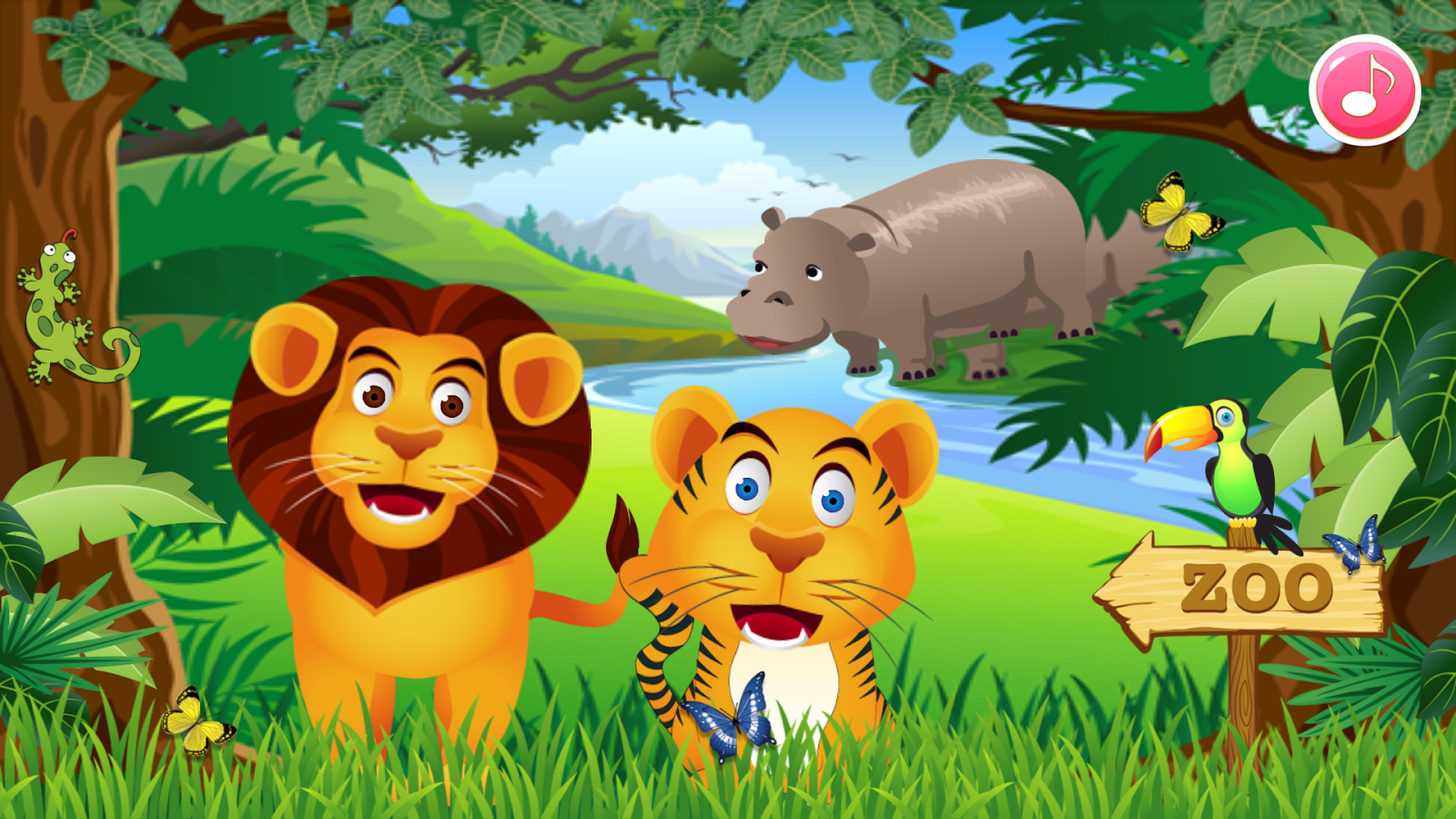 zoo animal family learning  android apps on google play Tiger Vector Cute Tiger Clip Art