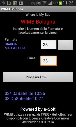 WIMB - Where Is My Bus Bologna