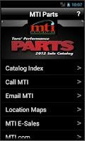 Screenshot of MTI Parts