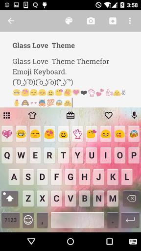 Free Glass Cute Keyboard Theme