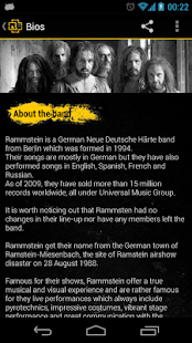 Rammstein Unofficial App - screenshot thumbnail