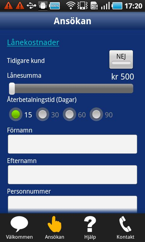 Ferratum Sverige - screenshot