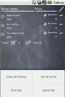 Screenshot of Order list : Counting app