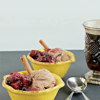 Spiced Berry Apple Compote (with Chocolate Ice Cream).
