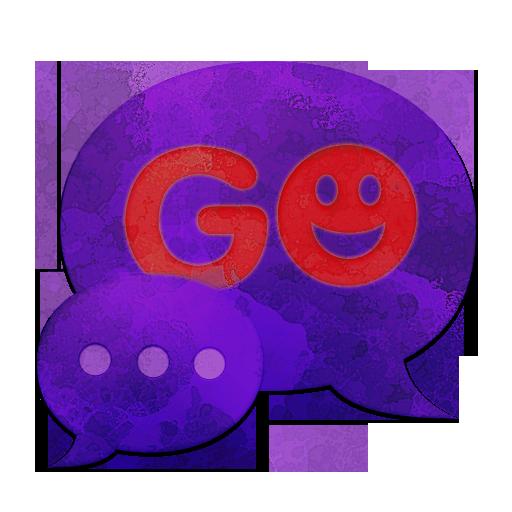 个人化ののテーマをGO SMS Theme Purplダークパープル LOGO-HotApp4Game