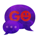 "短信主題深紫色"" GO SMS Theme Dark Pur icon"