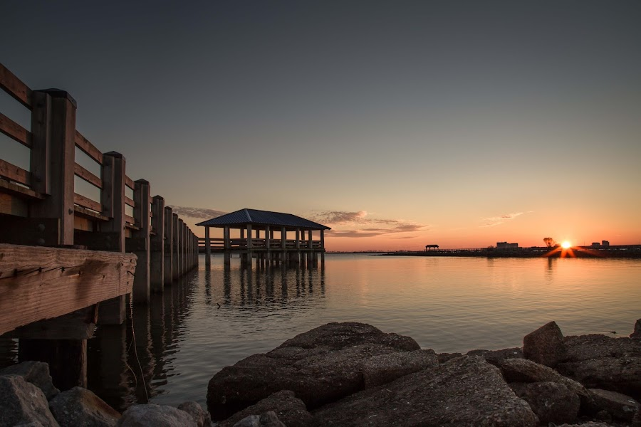 Sunset By the Pier by Ron Maxie - Buildings & Architecture Bridges & Suspended Structures