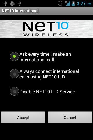 Net10 International Calls - screenshot
