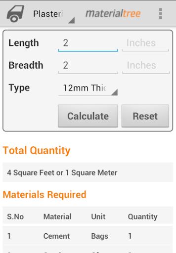 Building Materials Calculators