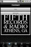 Screenshot of Fifth Records & Radio