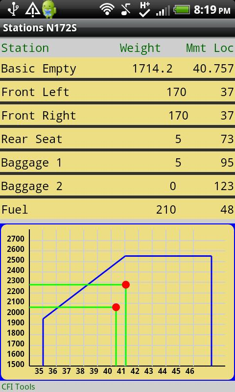 CFI Tools Weight and Balance- screenshot