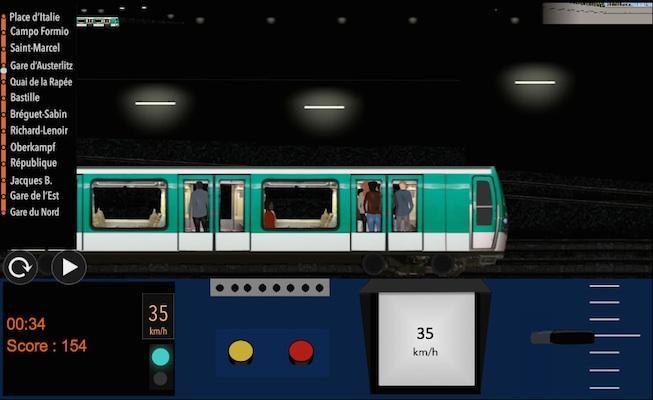 android Paris Métro Simulator Screenshot 3