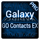 Blue Galaxy GO Contacts Theme