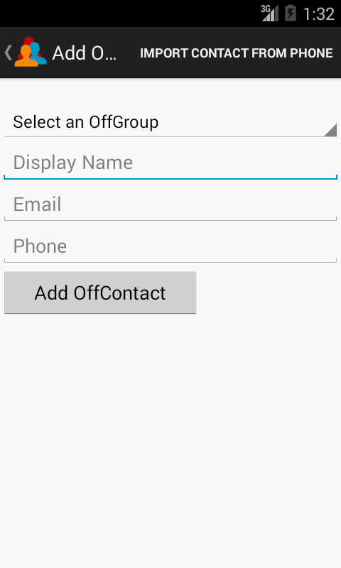Off Contacts- screenshot